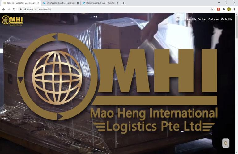 Desain Web MHI Logistics Singapura