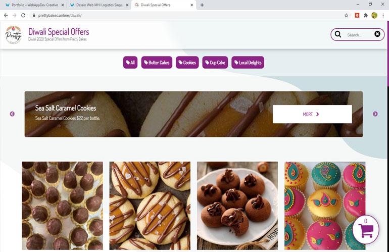 Pretty Bakes – Situs toko online cake dan jajanan
