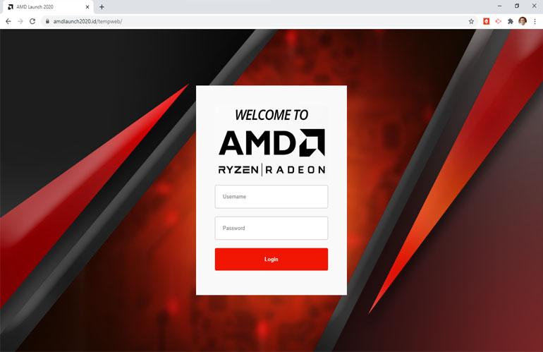 Backend dan Database Event AMD 2020