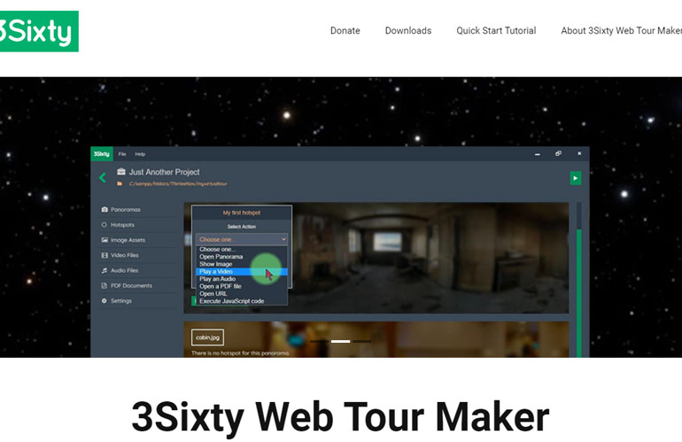 3Sixty 360 Virtual Reality and Virtual Tour Website Maker