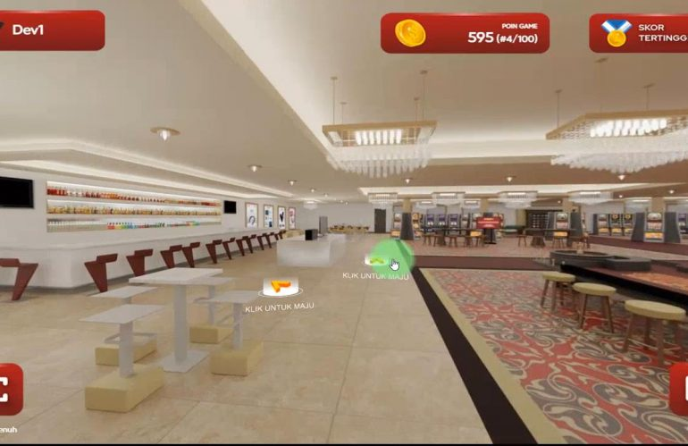 Tur virtual yang terintegrasikan dengan mini-games